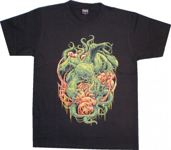 T-Shirt Krake mit Totenköpfen