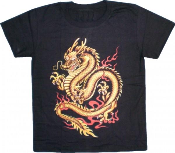 Kinder / Teeny T-Shirt mit Drachen