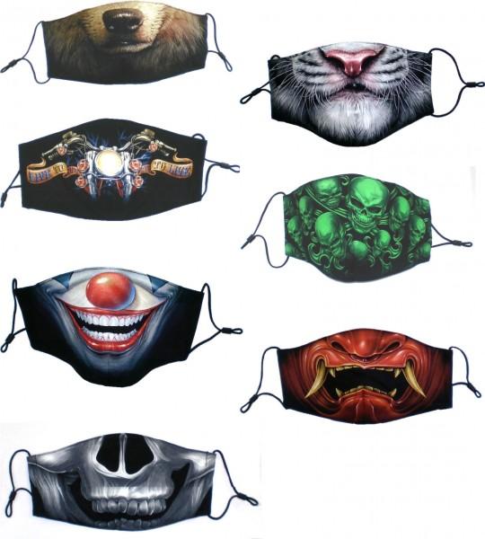 MASKEN Gesichtsmasken Behelfsmasken Rock Chang Mund Nase Masken Filter 3lagig HD