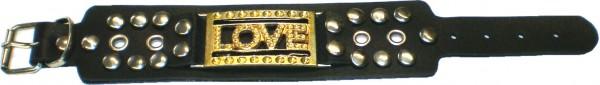"NAB 1811 - Nieten-Armband - Punk - Gothic - ""LOVE"""