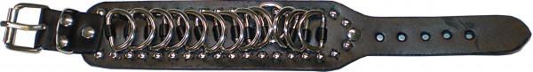 NAB 1820 - Nieten-Armband - Punk - Gothic - mit 13 Ringen