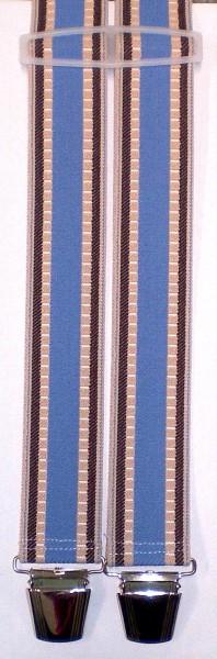 HHT38 - Hosenträger - H-Form - 4 Clips - gestreift