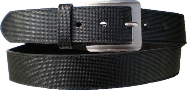 KGL 2132 - Gürtel / Kunstledergürtel / PU-Gürtel gemustert in 3,2 cm, schwarz