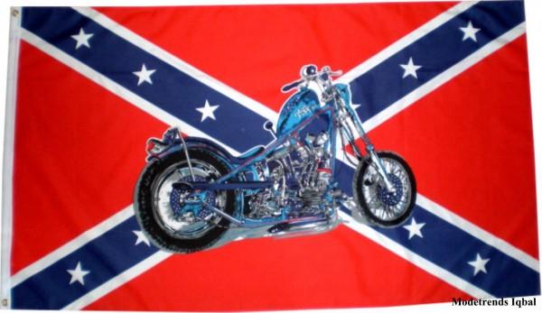 Länderfahne Südstaaten mit Bike