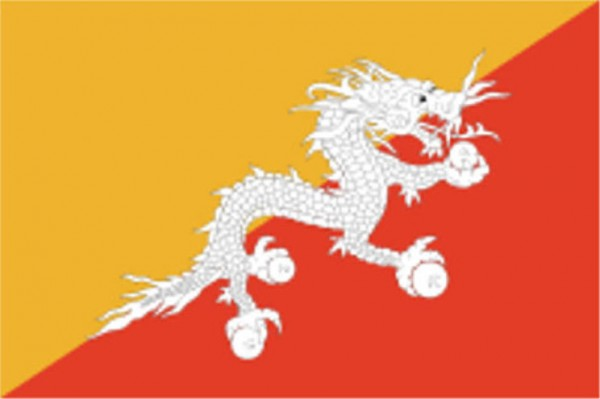 Länderfahne Bhutan