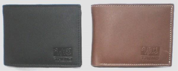 EX116 - Geldbörse, Lederbörse, Portemonnaie echt Leder - Querformat - schwarz,, camel
