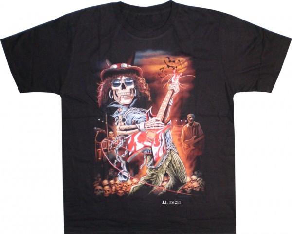 T-Shirt rockender Skull