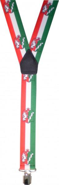 HT74 - Hosenträger - Y-Form - 3 Clips - NRW-Farben