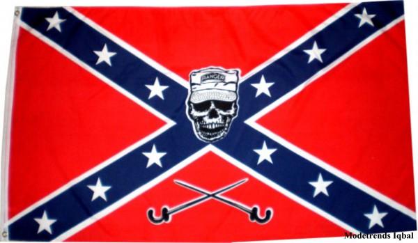 Länderfahne Südstaaten mit Skull/Ranger