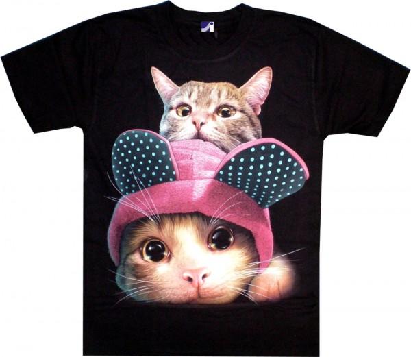 T-Shirt - Katzen - Glow in the dark