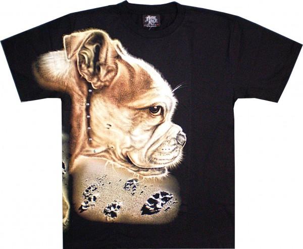 T-Shirt - Hund - Glow in the dark mit Nieten