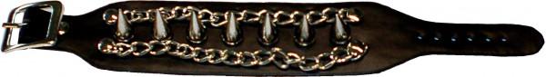NAB 1823 - Nieten-Armband - Punk - Gothic - mit Killerspitznieten + Ketten