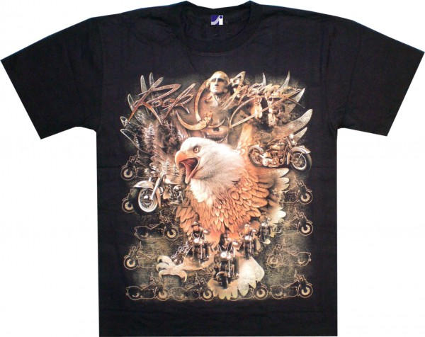 T-Shirt - Harleys und Adler - Glow in the dark