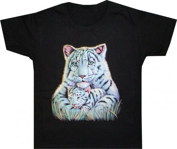 Kinder T-Shirt mit weißen Tigern