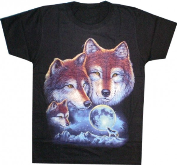 T-Shirt Wölfe