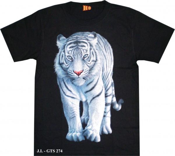GTS274 - T-Shirt HD/Glow in the dark - weißer Tiger