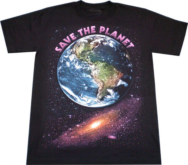 T-Shirt - Save the planet - Glow in the dark