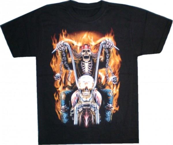 TS 247 - T-Shirt Biker in Flammen