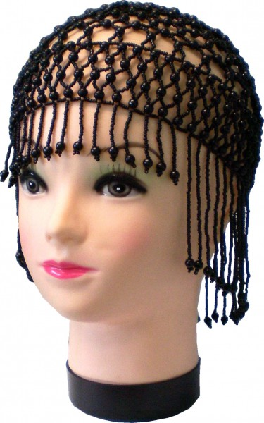 Perlenmütze, Netzmütze, Häkelmütze, Party-Mütze, Hut