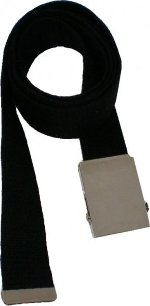 IQ 1460 Canvas-Gürtel, 160 cm langer Gürtel mit glänzender Metallschnalle, Stoffgürtel für Damen un
