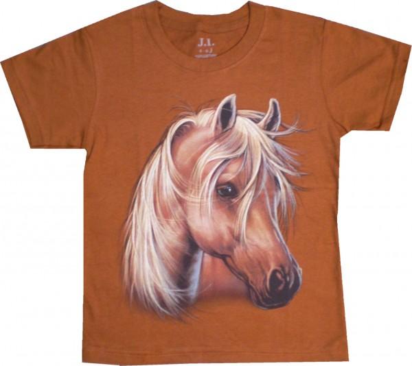Kinder T-Shirt mit Pferdekopf in vielen Farben