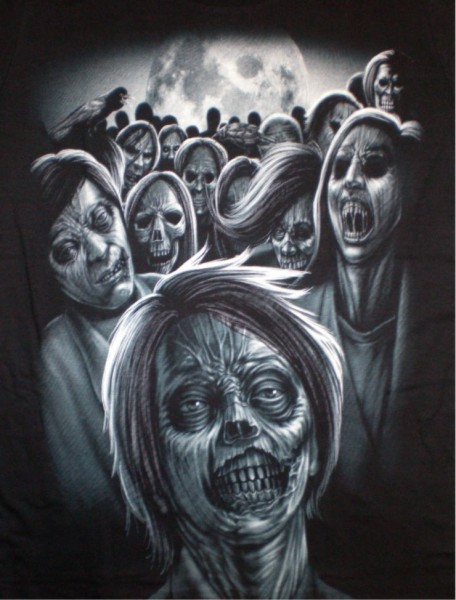 T-Shirt - Skulls - Totenköpfe - beidseitig farbig bedruckt