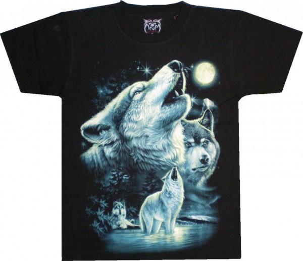 T-Shirt mit Wolfsrudel