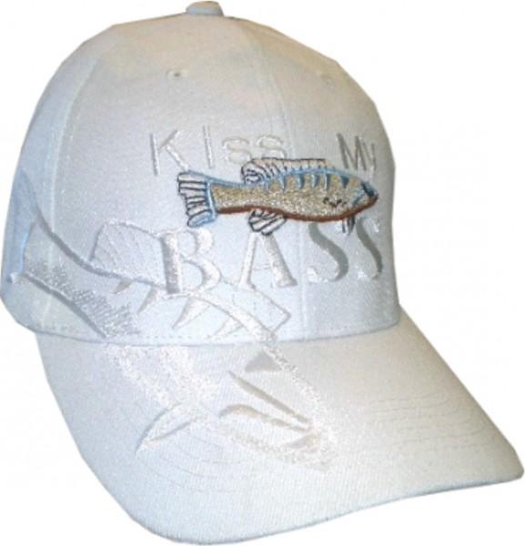 Cap 11 - Cap in weiß mit Fischen bestickt