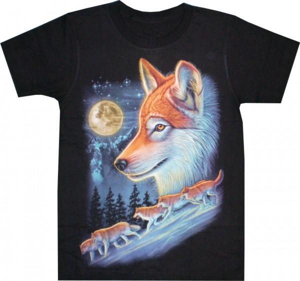 T-Shirt mit Wölfen