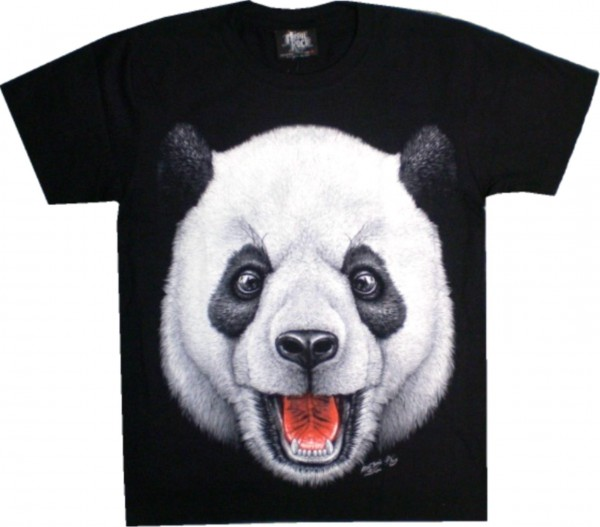 GTS155 - T-Shirt - Panda - Glow in the dark