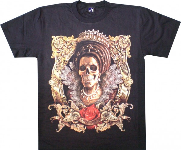 T-Shirt - Queen of Skulls - Glow in the dark