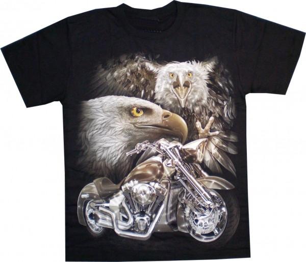 T-Shirt HD/Glow in the dark - Adler + Bike