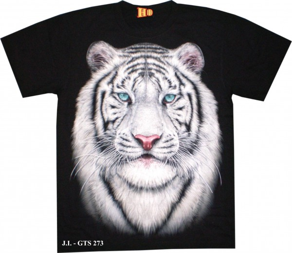 GTS273 - T-Shirt HD/Glow in the dark - weißer Tiger