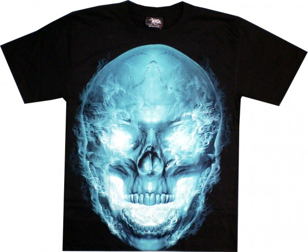 T-Shirt HD/Glow in the dark - leuchtender Totenkopf
