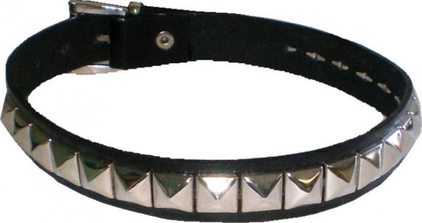 NHB 14 - Nieten-Halsband - Nieten-Halskette mit 21 Pyramidennieten
