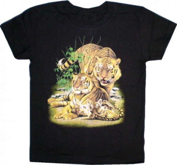 Kinder / Teeny T-Shirt mit Tigern