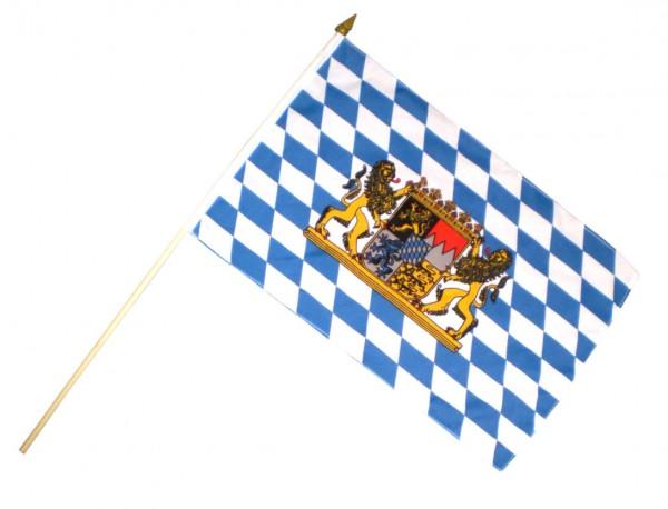 Stockfahne / Stockflagge Bayern