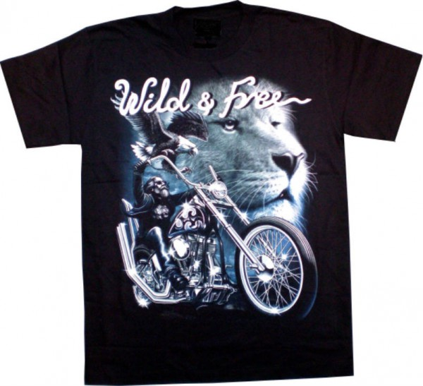 GTS 101 - T-Shirt – Wild & Free – Glow in the dark