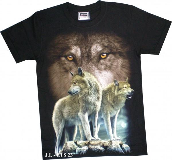 ETS 23 - T-Shirt mit Wolfsrudel - beidseitig farbig bedruckt