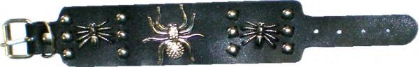 NAB 1814 - Nieten-Armband - Punk - Gothic - Spinnen