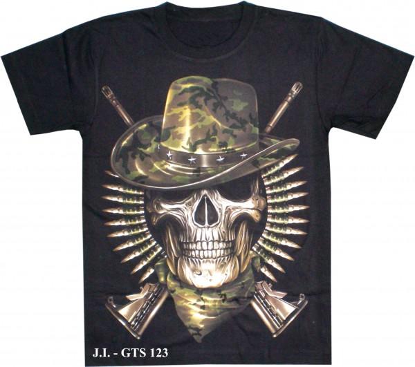 T-Shirt - Skull - Glow in the dark - GTS123