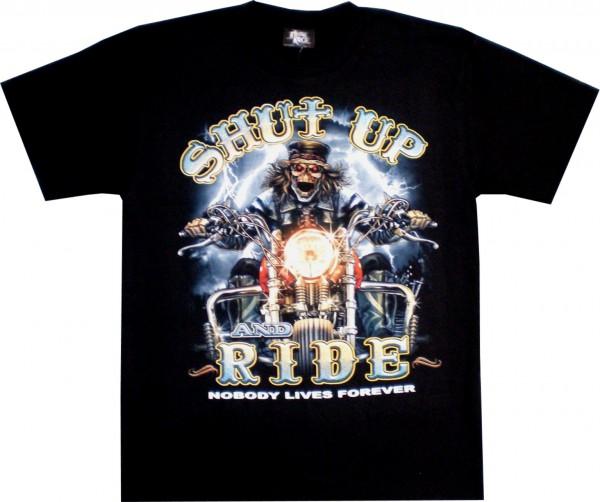 GTS130 - T-Shirt - Shut up and ride - Glow in the dark