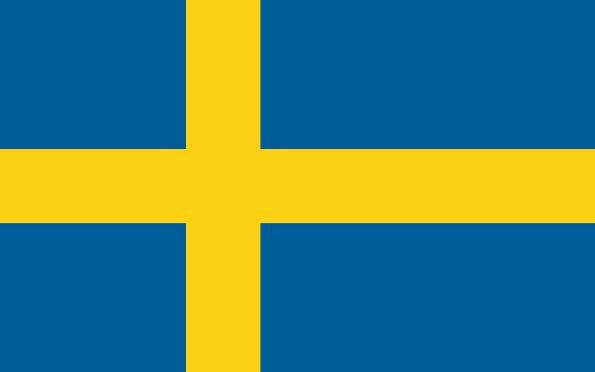 Stockfahne / Stockflagge Schweden