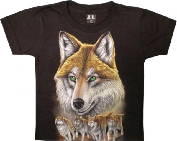 Kinder T-Shirt mit Wölfen