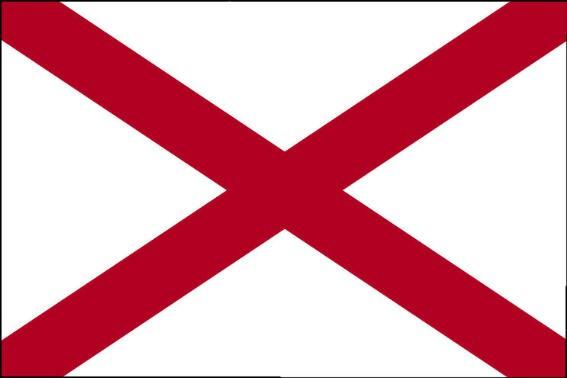 Länderfahne Alabama