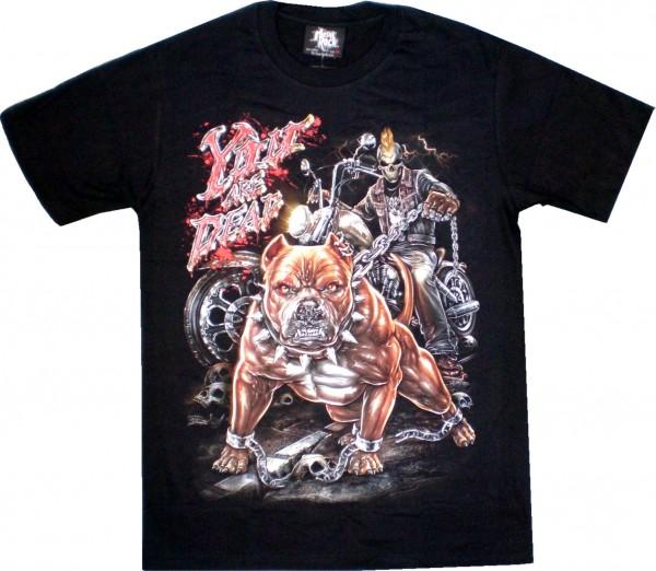 GTS 235 - T-Shirt - Bike, Skull, Pitbull - Glow in the dark