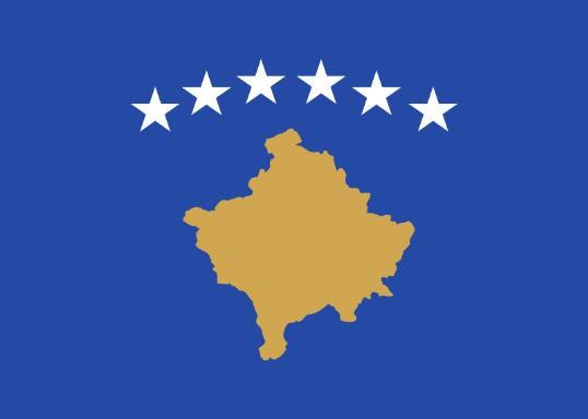 Länderfahne Kosovo