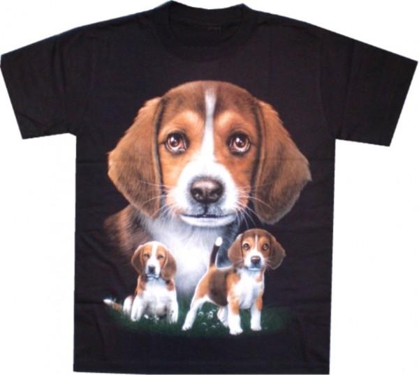 TS 155 - T-Shirt - Hund - Beagle - beidseitig farbig bedruckt