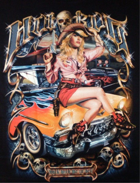 T-Shirt - Hot ride - Glow in the dark