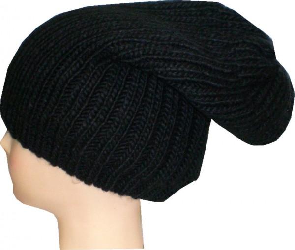 Mütze, Strickmütze, Wintermütze mit Fleece gefüttert